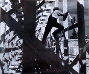 Lucien Hervé: Az UNESCO-palota építése közben, 1955